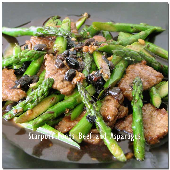 Beef and Asparagus with Black Bean and Garlic Sesame Sauce Recipe Image