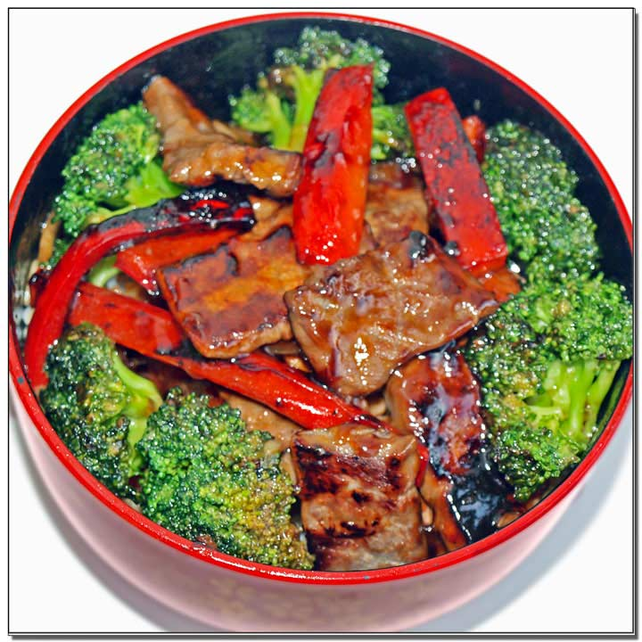 Beef and Broccoli rice bowl with gluten free Brown stir Fry Sauce Image