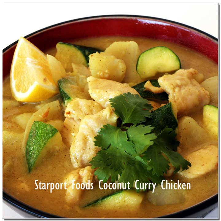 Gluten free fusion coconut curry chicken Image
