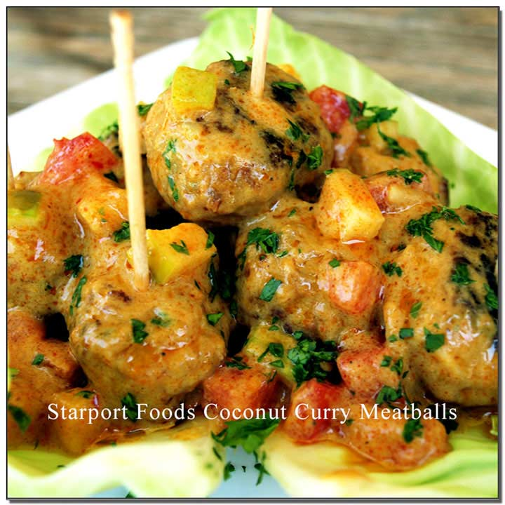 Gluten free fusion coconut curry meatball Image