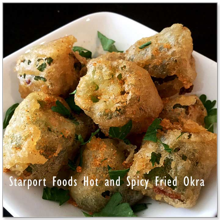Hot and Spicy Fried Okras Image