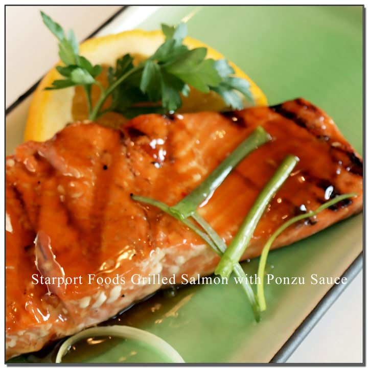 Grilled Salmon with Ponzu Citrus Soy Sauce Recipe Image