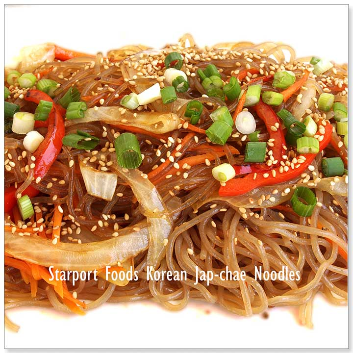 Korean Vegetarian Jap-chae Noodles Recipe Image