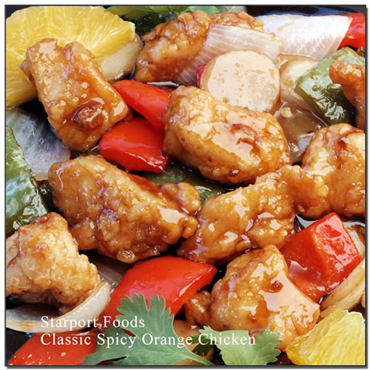 Classic Spicy Orange Chicken with infused Tangerine peels and Chili oil Recipe image