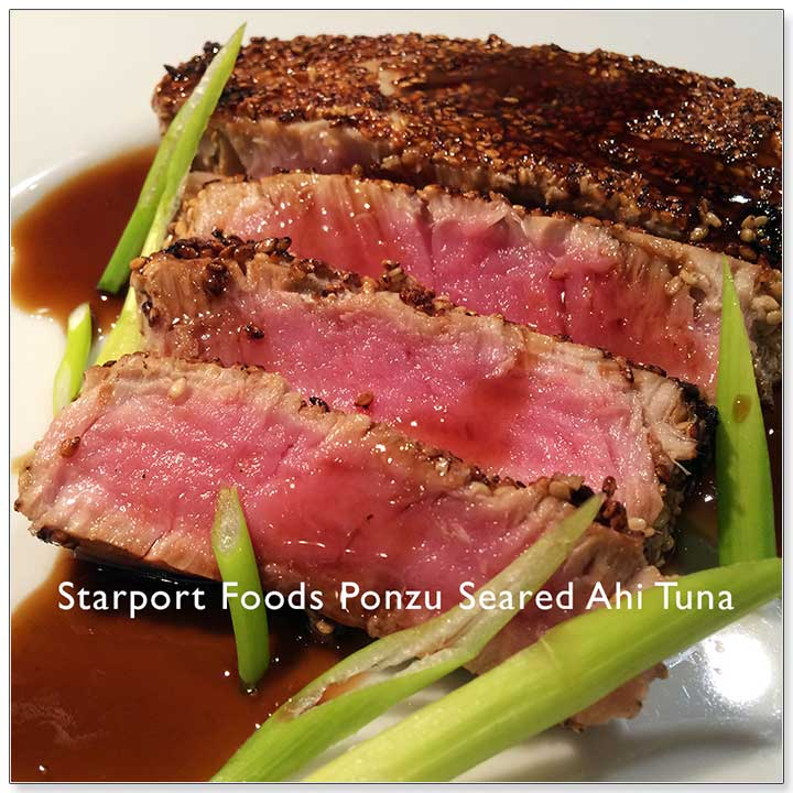 Pan Seared Sesame Encrusted Ahi Tuna with Ponzu Citrus Soy Image