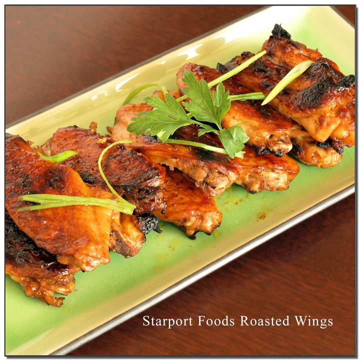 Roasted Wings with Gluten Free Spicy Orange Sauce image