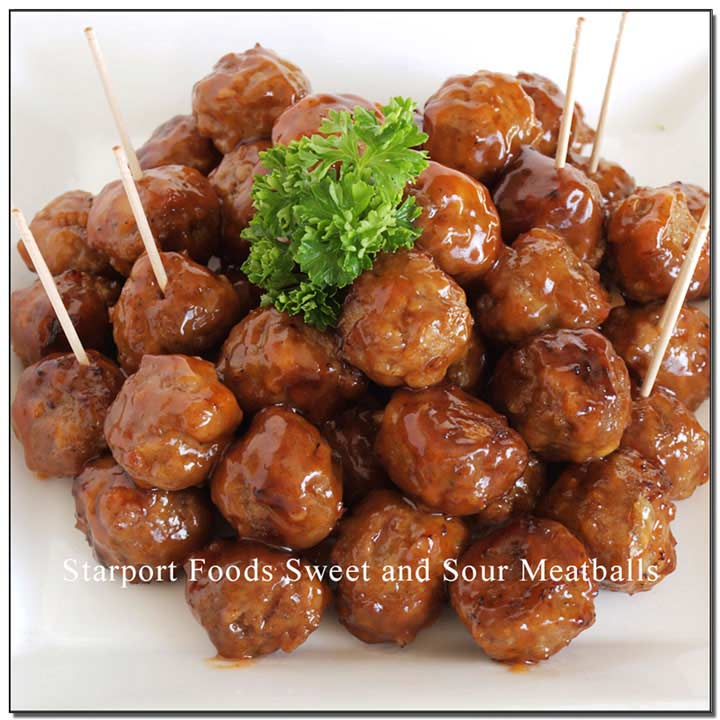 Gluten free Sweet and Sour Meatball Recipe Image