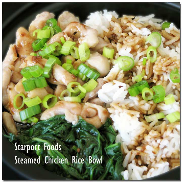 Steamed Chicken with Spinach Rice Bowl Recipe