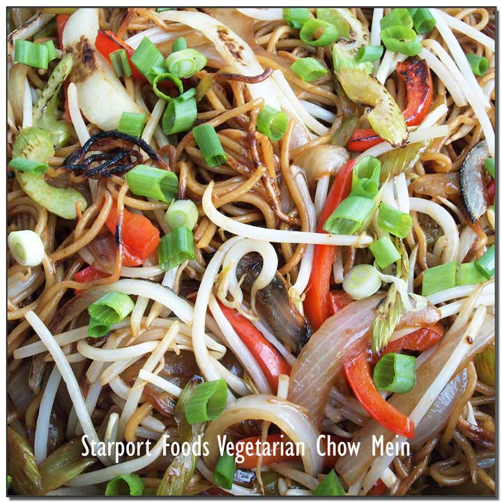 Vegetarian Chow Mein with Spaghetti Fusion Recipe Image